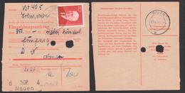 Tremmen über Nauen Wilhelm Pieck Einzahlungsanweisung Stammteil 15.4.59  DDR 673, Präsident Der DDR - Cartas