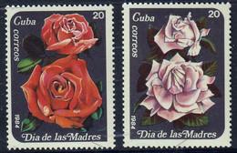 "CUBA - Flore, Roses, ""the Day For Mothers"" - Mi 2851-2852 - MNH - 1984 - Non Classés"