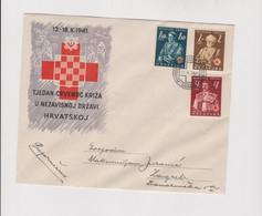 CROATIA WW II 1941 Red Cross Cover - Croacia