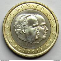 1 EURO 2001 MONACO  NEUVE (UNC ) - Mónaco