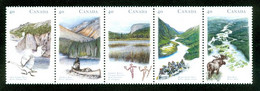 Rivières Au / Rivers In Canada; Se Tenant; Timbres Scott # 1321-5 Stamps; Trace De Charnière / Hinge (4616) - Nuevos
