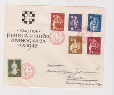 CROATIA WW II 1942 Red Cross Cover - Croacia