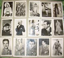 Actors, Actresses 15 Miniphoto Dick Powell, Deanna Durbin, Robert Taylor, Joan Crawford Etc. - Andere
