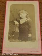 Cdv T HOYAU à CHERBOURG Portrait D'enfant - Alte (vor 1900)