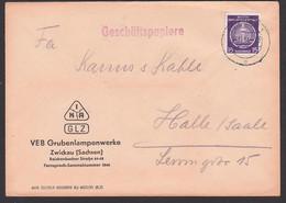 Zwickau Grubenlampenwerke Montan 15 Pf. Dienstpostmarke Geschäftspapiere - Cartas