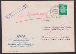 Magdeburg 28.3.55 Drucksache AWA = Anstalt Zur Wahrung Der Aufführungsrechte Auf Dem Gebiet Der Musik - Zensur - - Cartas