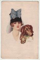 Chiens // Chien, Carte Fantaisie (dessinée Par Un Illustrateur Nanni) - Dogs