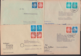 Volksgut Bösewig Dienstpost, Nervenheilanstalt Uchtspringe, Jena Institut Für Seidenbau, 4 Belege, Stassfurt - Cartas