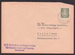 Salzmünde über Halle(Saale) VEB Vereinigte Kaolin- U. Tonwerke, SED Betriebsparteiorganisation An Prop./Agit(ation) - Cartas
