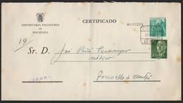 """España - Edi O 1151 - Giro Postal Tributario """"Certificado 27/5/61 - Gerona"""" - 1951-60 Lettres"""