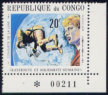 Timbre Neuf ** N° 253C(Yvert) Congo 1970 - Espace, Premier Homme Sur La Lune - Nuevas/fijasellos