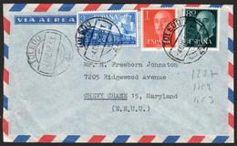 """España - Edi O 1152,1153,1237 - Fecha """"Toledo 4/12/58"""" A USA - 1951-60 Lettres"""
