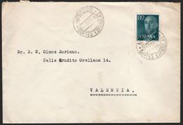 """España - Edi O 1152 - Fecha """"Correos - Cortes Españolas 25/10/56"""" - 1951-60 Lettres"""