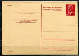 "DDR,GDR 1956 GS Wilhelm Pieck Mi.Nr.P65 B-F/A Mit Antwortteil  ""komplette Ausgabe ""1 GS Blanco - Postales - Nuevos"
