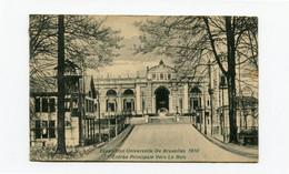 Expo 1910 Bruxelles - Entrée Principale Vers Le Bois - Expo Stempel - Kaart Naar Anvers Stempel ARRIVEE - Exhibitions