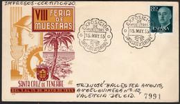 """España - Edi O 1152 - Mat Gomis 218b """"15/5/55 - Exposición De Muestras - Santa Cruz Tenerife"""" - 1951-60 Lettres"""
