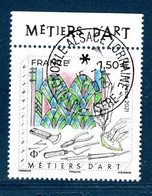 France 2021.Issu De La Mini Planche Métiers D'art Vitrailliste.Cachet Rond Gomme D'origine. - Used Stamps