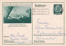 Schöne Ganzsache: Lernt Deutschland Kennen- Gel. Halle 1933 - Stamped Stationery