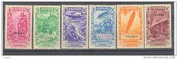 TABE6CF-LCFT. Maroc Marocco.TANGER ESPAÑOL BENEFICENCIA 1938 (Ed  6/11*) Con Charnela LUJO - Beneficiencia (Sellos De)