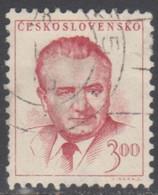 TCHECOSLOVAQUIE 1948-52 1 TP Effigie Du Président Gottwald N° 479 Y&T Oblitéré - Usados