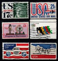 USA 1971-76, Scott C80 C81 C85 C86 C88 C90, Used, Air Mail - 3a. 1961-… Usados