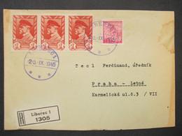 BRIEF Liberec - Praha 1945 Provisorium   ///// F3270 - Cartas