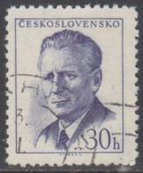 TCHECOSLOVAQUIE 1958-59 1 TP Président Antonin Novotny N° 965A Y&T Oblitéré - Usados