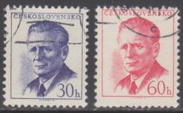 TCHECOSLOVAQUIE 1958 2 TP Président Antonin Novotny N° 992 Et 993 Y&T Oblitéré - Usados