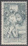 TCHECOSLOVAQUIE 1959 1 TP 10è Anniv. Dela Déclaration Universelle Des Droits De L'Homme N° 1009 Y&T Oblitéré - Usados
