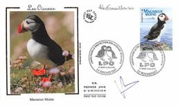FRANCE. FDC. N°208279. 12/05/2012. Cachet Rochefort. Protection Des Oiseaux. Macareux Moine. Signé - 2010-2019