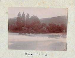 25 - BESANCON - Photo Originale Le Barrage Saint Paul 1900 - Places