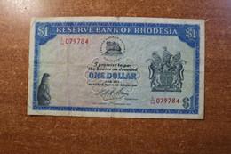 Rhodesia 1 Dollar 1973 RARE YEAR RK - Rhodesia