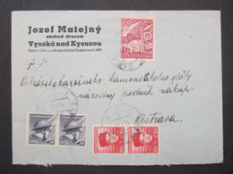 BRIEF Bahnpost Zugstempel Cadca - Makov Vysoka Nad Kysucou  - Ostrava 1948   ///// F3282 - Cartas