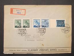BRIEF Brno - Praha Smichov Loterie Zouhar 1945   ///// F3288 - Cartas