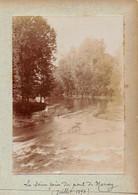 10 - La Seine Prise Du Pont De MERREY - Photo Originale Juillet 1898 - Places