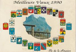 Meilleurs Voeux 1990  Ile De La Reunion - Otros
