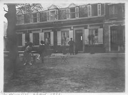 80 - LE HOURDEL - Photo Originale 1921 - Café - Hôtel Du Parc Aux Huitres - Places