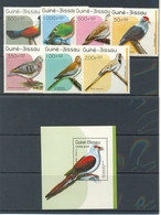 GUINEA BISSAU 1989 - FAUNA PAJAROS - BIRDS - YVERT 507-513** + BLOCK 66** - Guinea-Bissau