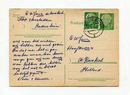 1957 Kaart Van Bemanningslid Schip Amsterdam In Rudesheim Naar De Kwakel Nederland Met Tekst In Nederlands - Postales - Usados