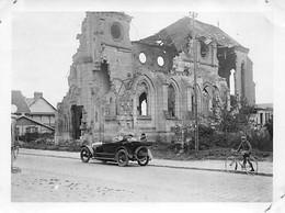 80 - HAM - Photo Originale 1926 - Sur La Route De Ham - Régions Dévastées - Eglise En Ruines - Places