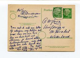 1957 Kaart Van Bemanningslid Schip Amsterdam In Koningswinter Naar De Kwakel Nederland Met Tekst In Nl - Aanvaring - Postales - Usados