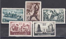 Bulgaria 1953 - 75e Ann. De La Liberation Du Joug Turc, YT 743/47, Neufs** - Unused Stamps