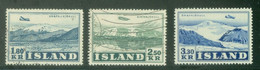 Iceland 1952; Airmail, Michel 278-279, Used, Michel 280.** - Gebraucht