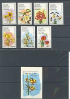 GUINEA BISSAU 1989 - FLORA FLOWERS - VARIEDADES DE LA LILA -FLOWER - YVERT 500/506 + BLOCK 65 - Guinea-Bissau