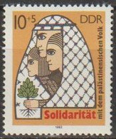 DDR 1982 MiNr.2743 ** Postfrisch Solidarität Mit Dem Palästinensischen Volk ( A223 ) Günstige Versandkosten - Ongebruikt