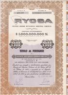 RYCSA METALURGICA INDUSTRIAL. 20 ACCIONES ORDINARIAS. ARGENTINA, 1961. ACCION ACTION -LILHU - Mineral