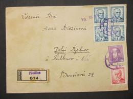 BRIEF Predlice - Dolni Rychnov Falknov 1945  Provisorium   ///// F3296 - Cartas