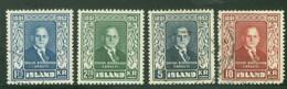 Iceland 1952; Sveinn Björnsson, Michel 281-284, Used. - Gebraucht