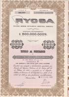 RYCSA METALURGICA INDUSTRIAL. 10 ACCIONES ORDINARIAS. ARGENTINA, 1961. ACCION ACTION -LILHU - Mineral