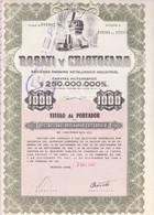 ROSATI Y CRISTOFARO, METALURGICA INDUSTRIAL. 10 ACCIONES ORDINARIAS. ARGENTINA, 1957. ACCION ACTION -LILHU - Mineral